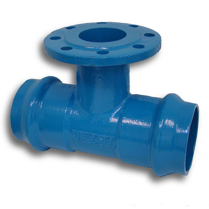 Flanged Pipe Fittings : Brent flanged fittings double socket tee